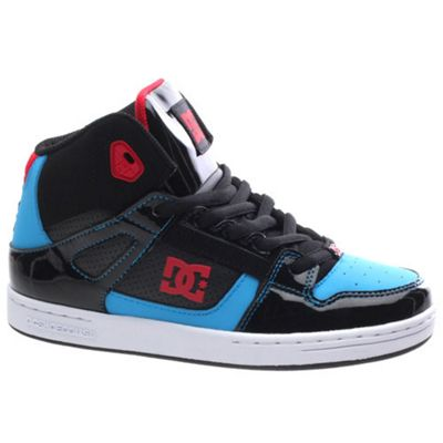 DC Rebound Kids Black/Athletic Red/Turquoise Shoe