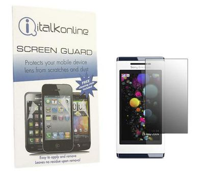 iTalkOnline S-Protect LCD Screen Protector & Micro Fibre Cleaning Cloth - Sony Ericsson Aino