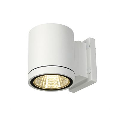 Enola C Out Wl Wall Lamp Round White 9W LED, 3000K, 35°