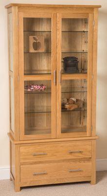 Oslo Solid Oak & Glass Display Cabinet