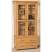 Oslo Solid Oak & Glass Display Cabinet