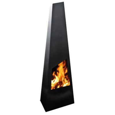 Gardenmaxx Chingo 190cm Fireplace - Black