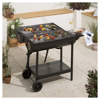 Buy Double Sided Oil Drum Charcoal Bbq Black From Our