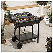 Tesco Double-sided Oil Drum Charcoal BBQ, Black