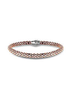Sterling Silver Rose Gold plated Snakeskin Snap N Stack bracelet