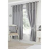 Hamilton McBride Darcy Lined Ring Top Curtains - Grey