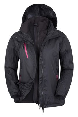 Mountain Warehouse Bracken Extreme Womens 3 in 1 Waterproof Jacket ( Size: 14 )
