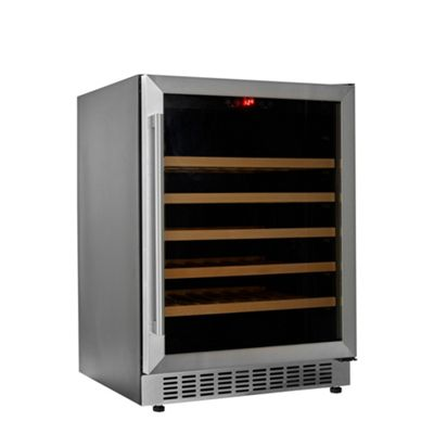 Cookology CWC600SS 60cm Wine Cooler in Stainless Steel | 54 Bottle Capacity Undercounter or Freestanding Fridge