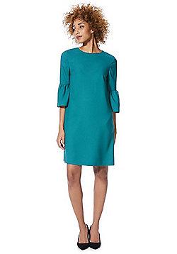 F&F Crepe Bell Sleeve Dress - Teal