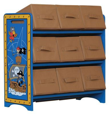 Pirate themed 9 bin storage unit