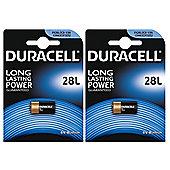 2 x Duracell 28L 6V Lithium Photo Battery PX28L 2CR-1/3N L544 2CR13252 4LR44
