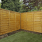 Mercia Waney Edge Lap Fence Panel 5ft Dipped