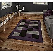 Matrix Check Border Rug - Purple