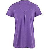 Reebok EasyTone Double Womens Training Fitness T-Shirt Tee Purple - Purple