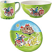 Children's Dinner Set - Knight and Dragon