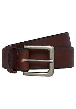 F&F Bevelled Edge Leather Belt - Brown