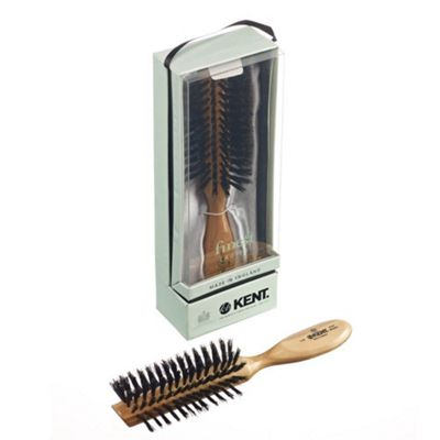 Kent Handbag Size Half Radial Black Bristle Brush - LC8