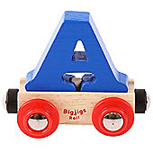 Bigjigs Rail Rail Name Letter A (Dark Blue)
