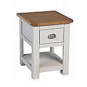Corsica Oak Lamp Table / Grey Painted Side Table