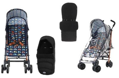 Obaby Atlas Stroller Newborn Bundle - Scooter
