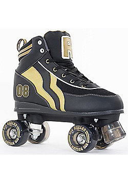 Rio Roller Varsity Black/Gold Quad Roller Skates - Black