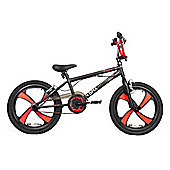 "XN-3 20"" Freestyle 4 Spoke Mag Wheel BMX Bike Black/Red Adult & Kids"