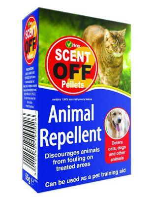 Vitax Scent off Pellets Cat and Dog Animal Garden Repellent - 55g