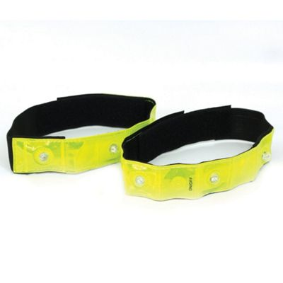 Optimum Flashing Running Cycling Hi-Vis Hi-Viz LED Armband Arm Band