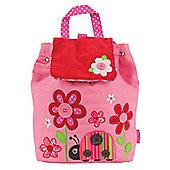 Children's Pink Ladybird & Flowers Backpack