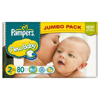 Pampers New Baby Size 2 (Mini) Jumbo Pack 80