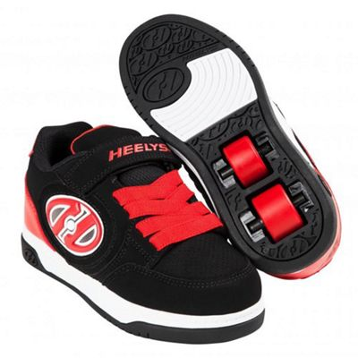 Heelys Plus Lighted Black/Red Kids Heely X2 Shoe JNR 12