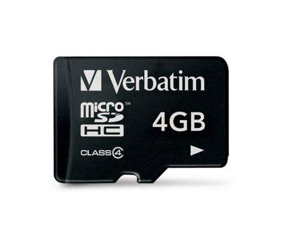 Verbatim microSDHC 4GB Class 4 Card