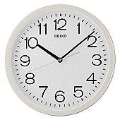 Seiko QXA693W Square Analogue Wall Clock-12 Hour Display With White Case