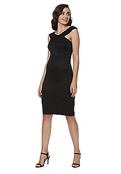 AX Paris Lace Bardot Bodycon Dress - Black