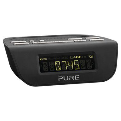 Pure Siesta Mi SII VL-61775 Digital Clock FM Radio - Black