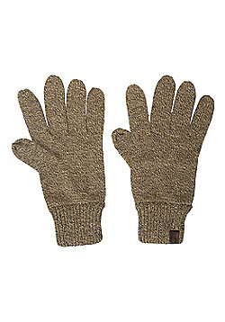 Mountain Warehouse Compass Knitted Mens Gloves - Brown