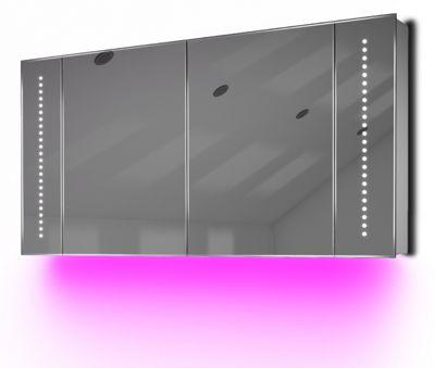 Ambient Demist Bathroom Cabinet With Sensor & Internal Shaver Socket K126P