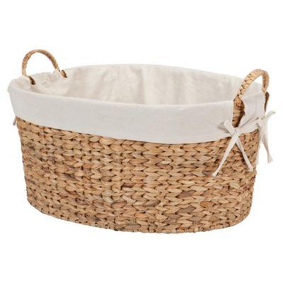 Tesco Water Hyacinth Lined Laundry Basket
