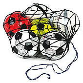 Precision Training 12 Football Balls Nylon Carry Net Bag Training Accessory