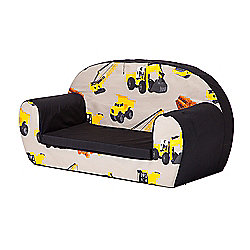 Diggers Soft Foam Toddlers Sofa 2 Seater