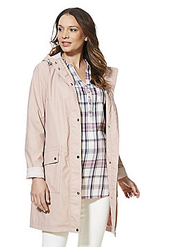 F&F Shower Resistant Maternity Mac - Blush pink