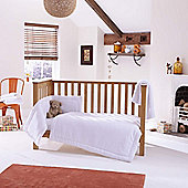 Clair de Lune Honeycomb 3 piece Cot Set - White