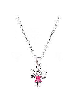 Jo For Girls Pink Dress Fairy Pendant