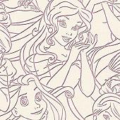 Graham & Brown Princess Real Flock Pink Wallpaper