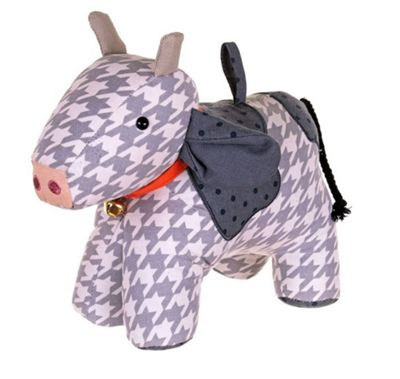 Ulster Weavers Fabric Weighted Doorstop Door Stop, Cow Design