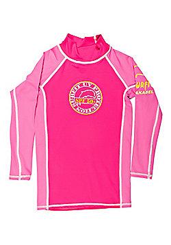 Jakabel Girls Long Sleeved UV Rash Top | Pink - Pink