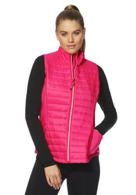 F&F Active Zip-Through Padded Gilet Pink 8