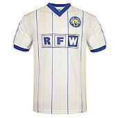 Leeds United AFC Mens 1982 1986 1996 Retro Shirt - White