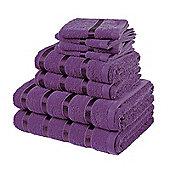 Boston, 8pc Towel Bale, Purple Plain Bale Set