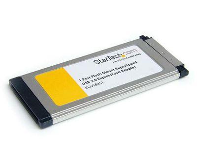 StarTech 1 Port Flush Mount ExpressCard SuperSpeed USB 3.0 Card Adapter